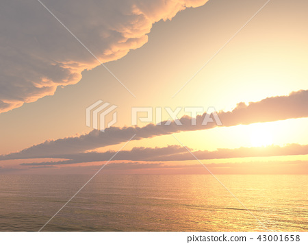 Sunset over the sea 43001658
