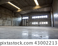 Interior of old factory buildings abandoned and empty 43002213