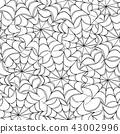 Cobwebs seamless pattern.  43002996