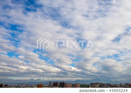 多雲的天空 Cloudy Sky 雲が多い空 背景 Image 桌布 Background  43003224
