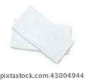 Top view of two facial tissues 43004944