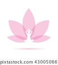 Yoga person sitting in a lotus pose pink 43005066