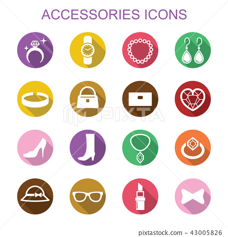 accessories long shadow icons 43005826