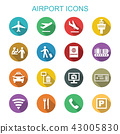 airport long shadow icons 43005830