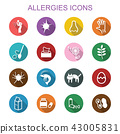 allergies long shadow icons 43005831
