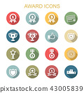 award long shadow icons 43005839