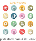 bakery long shadow icons 43005842