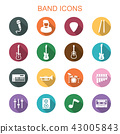 band long shadow icons 43005843