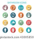 bathroom long shadow icons 43005850