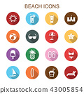 beach long shadow icons 43005854