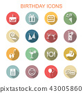 birthday long shadow icons 43005860