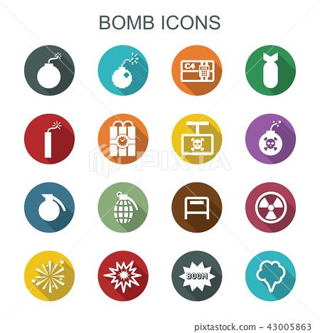 bomb long shadow icons 43005863