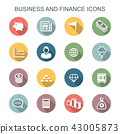 business and finance long shadow icons 43005873