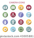 camera long shadow icons 43005881