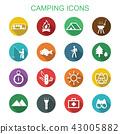 camping long shadow icons 43005882