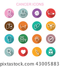 cancer long shadow icons 43005883