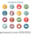 cooking long shadow icons 43005902