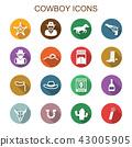 cowboy long shadow icons 43005905