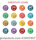 creativity long shadow icons 43005907