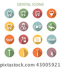 dental long shadow icons 43005921