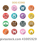 dog long shadow icons 43005929