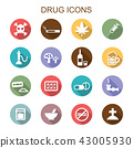 drug long shadow icons 43005930