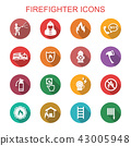 firefighter long shadow icons 43005948