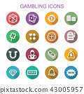 gambling long shadow icons 43005957