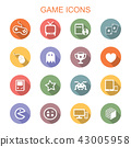game long shadow icons 43005958