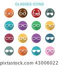 glasses long shadow icons 43006022