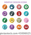graphic design long shadow icons 43006025