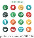 herb long shadow icons 43006034