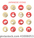 japanese long shadow icons 43006053