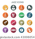 jazz long shadow icons 43006054