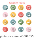 jewelry long shadow icons 43006055