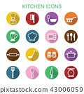 kitchen long shadow icons 43006059
