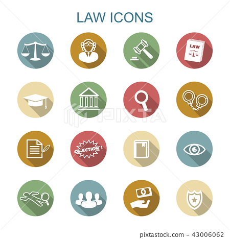 law long shadow icons 43006062