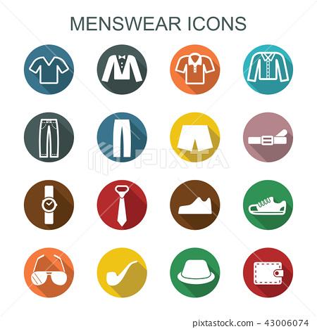 menswear long shadow icons 43006074