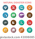 natural disaster long shadow icons 43006085