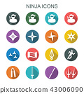 ninja long shadow icons 43006090