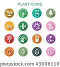plant long shadow icons 43006110