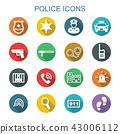police long shadow icons 43006112