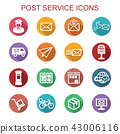 post service long shadow icons 43006116