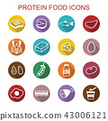 protein food long shadow icons 43006121