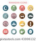 ramadan long shadow icons 43006132