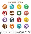 sawmill long shadow icons 43006166