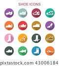shoe long shadow icons 43006184