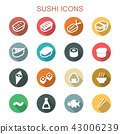 sushi long shadow icons 43006239