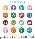 sweet long shadow icons 43006240
