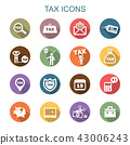tax long shadow icons 43006243